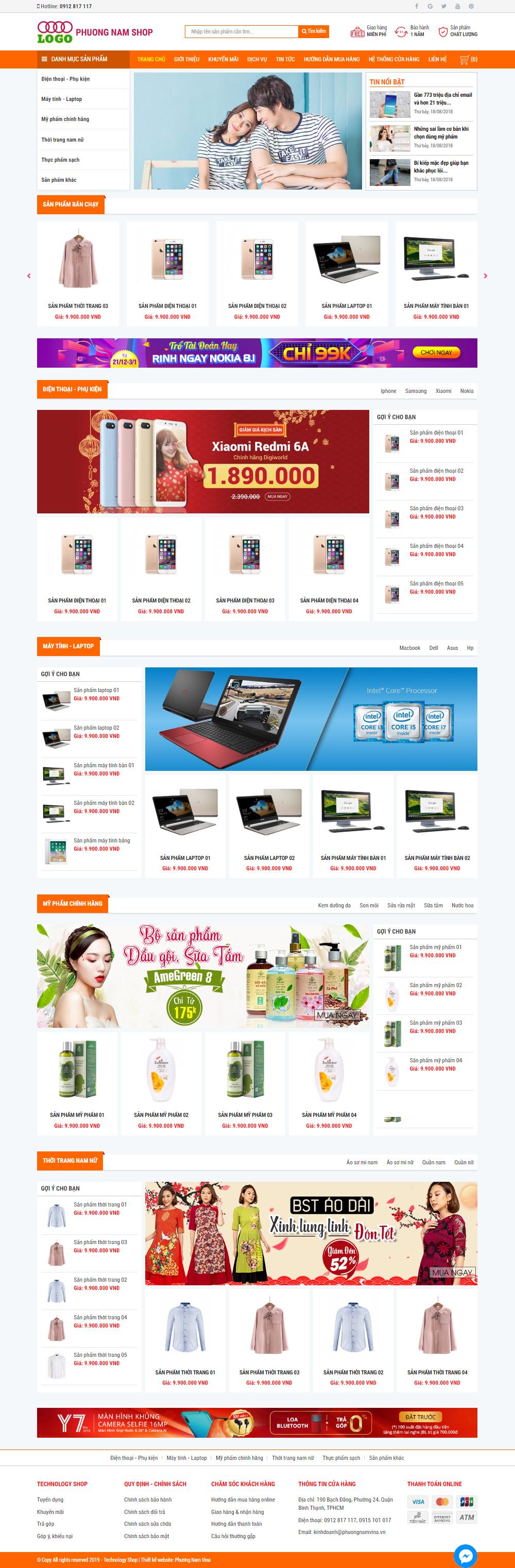 Mẫu Website Đẹp - PN04