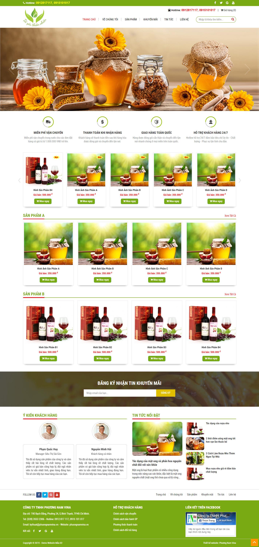 Mẫu Website Giá Rẻ - PN02