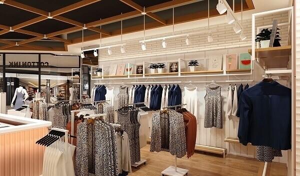 Thiết kế nội thất cửa hàng thu hút